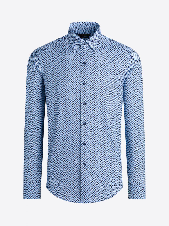 Chemise Pied de poule bleu