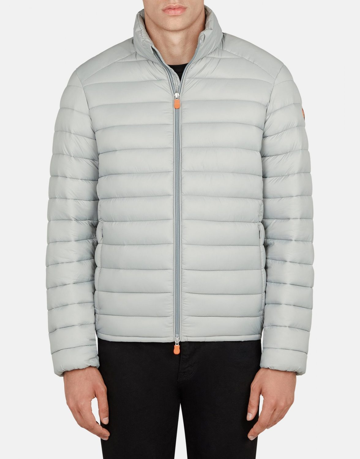 save the duck puffer light grey